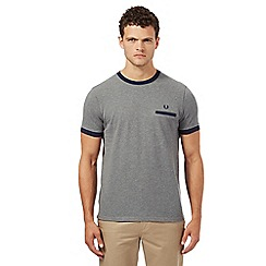 Fred Perry - Grey pique textured t-shirt
