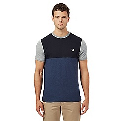 Fred Perry - Navy colour block t-shirt