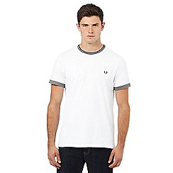 Fred Perry - White striped crew neck t-shirt