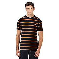 Fred Perry - Black stripe logo embroidered t-shirt