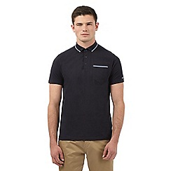 Ben Sherman - Black gingham print trims polo shirt