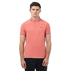 Ben Sherman - Big and tall dark peach single tip polo shirt