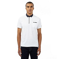 Ben Sherman - White spotted print trim polo shirt