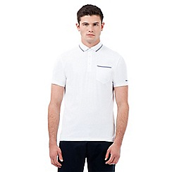 Ben Sherman - White gingham trim polo shirt