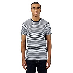 Ben Sherman - Navy striped print t-shirt