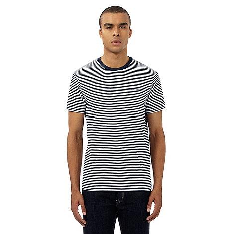 Ben sherman big and tall navy striped print t shirt for Big and tall printed t shirts