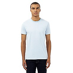 Ben Sherman - Big and tall light blue striped print t-shirt