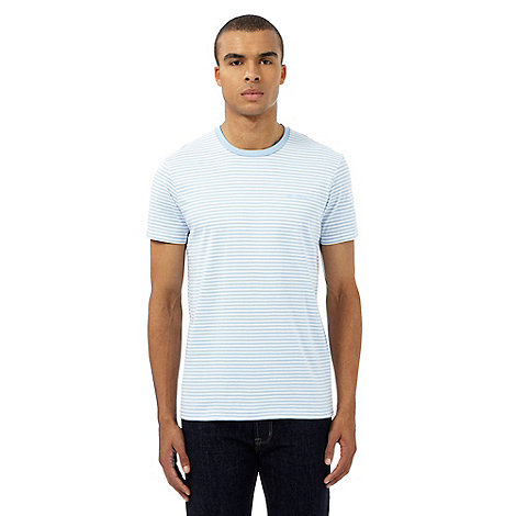 Ben sherman big and tall light blue striped print t shirt for Big and tall printed t shirts