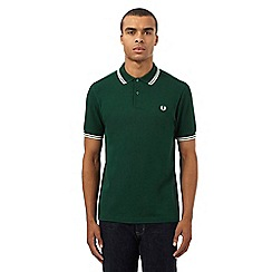 Fred Perry - Dark green twin tipped regular fit polo shirt