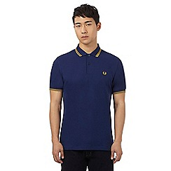 Fred Perry - Navy double tipped polo shirt