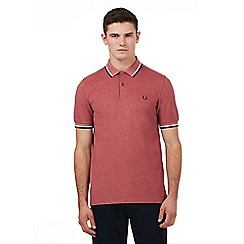 Fred Perry - Dark pink twin tipped regular fit polo shirt