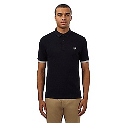 Fred Perry - Navy logo embroidered polo shirt