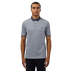 Fred Perry - Grey chambray collar polo shirt