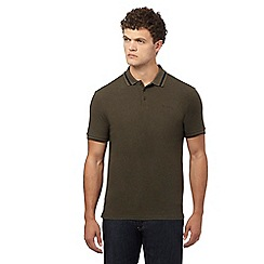 Ben Sherman - Big and tall dark green polo shirt