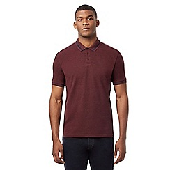 Ben Sherman - Big and tall dark red polo shirt
