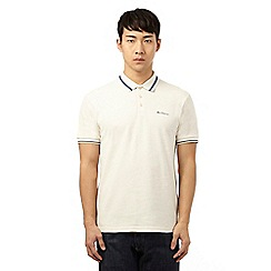 Ben Sherman - Cream tipped polo shirt