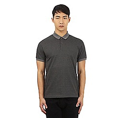 Ben Sherman - Grey dogtooth polo shirt