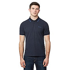 Ben Sherman - Black geometric patterned polo shirt