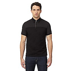 Ben Sherman - Big and tall black spot print polo shirt