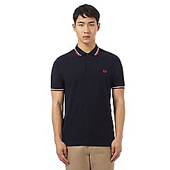 Fred Perry - Navy red tipped polo shirt