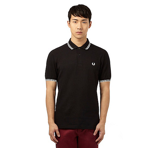 Fred Perry Black tipped polo shirt | Debenhams