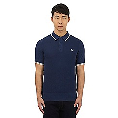 Fred Perry - Navy blue knitted polo shirt