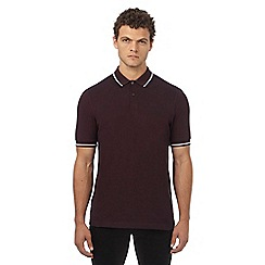 Fred Perry - Dark red logo applique polo shirt