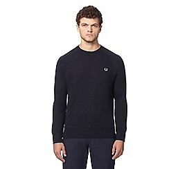 Fred Perry - Navy crew neck jumper