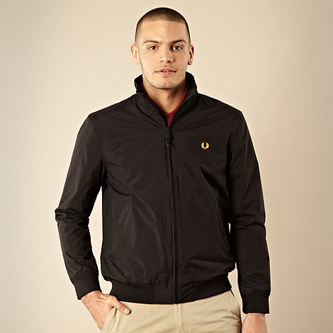 Fred Perry - Black zip through sailing jacket