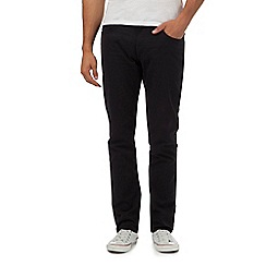 Ben Sherman - Black regular fit corduroy trousers