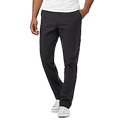 Fred Perry - Dark grey smart textured trousers