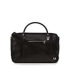 Fred Perry - Black textured weekend bag