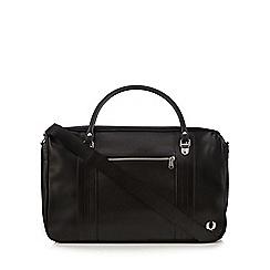 Fred Perry - Black textured weekend bag