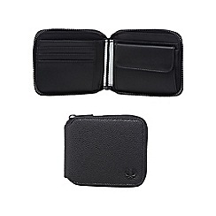 Fred Perry - Black textured zip around wallet
