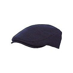 Fred Perry - Navy flat cap with wool