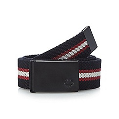Fred Perry - Black striped webbing belt