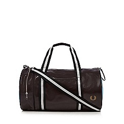 Fred Perry - Dark red classic barrel bag