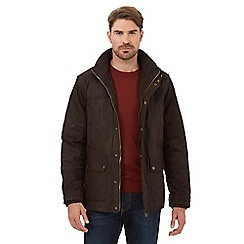 Barneys - Big and tall dark brown leather jacket