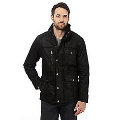 Barneys - Black four pocket leather jacket