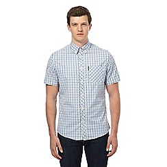 Ben Sherman - Grey and blue checked shirt