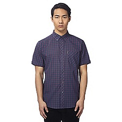 Ben Sherman - Big and tall purple check print button down shirt