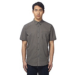 Ben Sherman - Big and tall black checked shirt