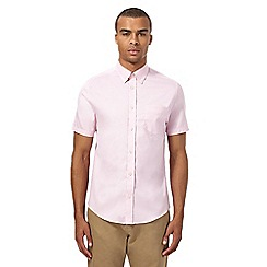 Ben Sherman - Big and tall pink short sleeved oxford shirt