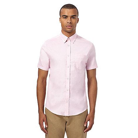 Ben sherman big and tall pink short sleeved oxford shirt for Big and tall oxford shirts