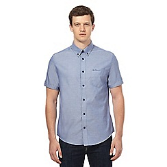 Ben Sherman - Blue short sleeved Oxford shirt