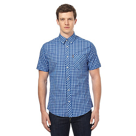Ben Sherman Blue Gingham Checked Shirt Debenhams