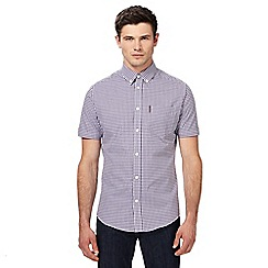 Ben Sherman - Purple gingham checked shirt