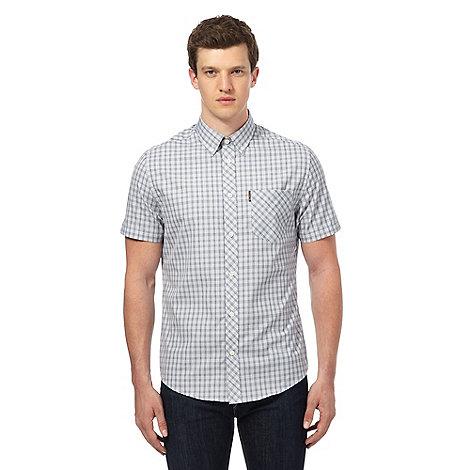 Ben Sherman Grey Gingham Checked Shirt Debenhams