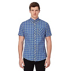 Ben Sherman - Big and tall blue checked print regular fit shirt