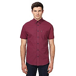 Ben Sherman - Red checked regular fit shirt